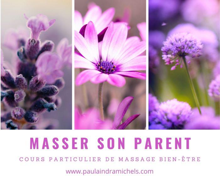 Massage cours Parent âgée